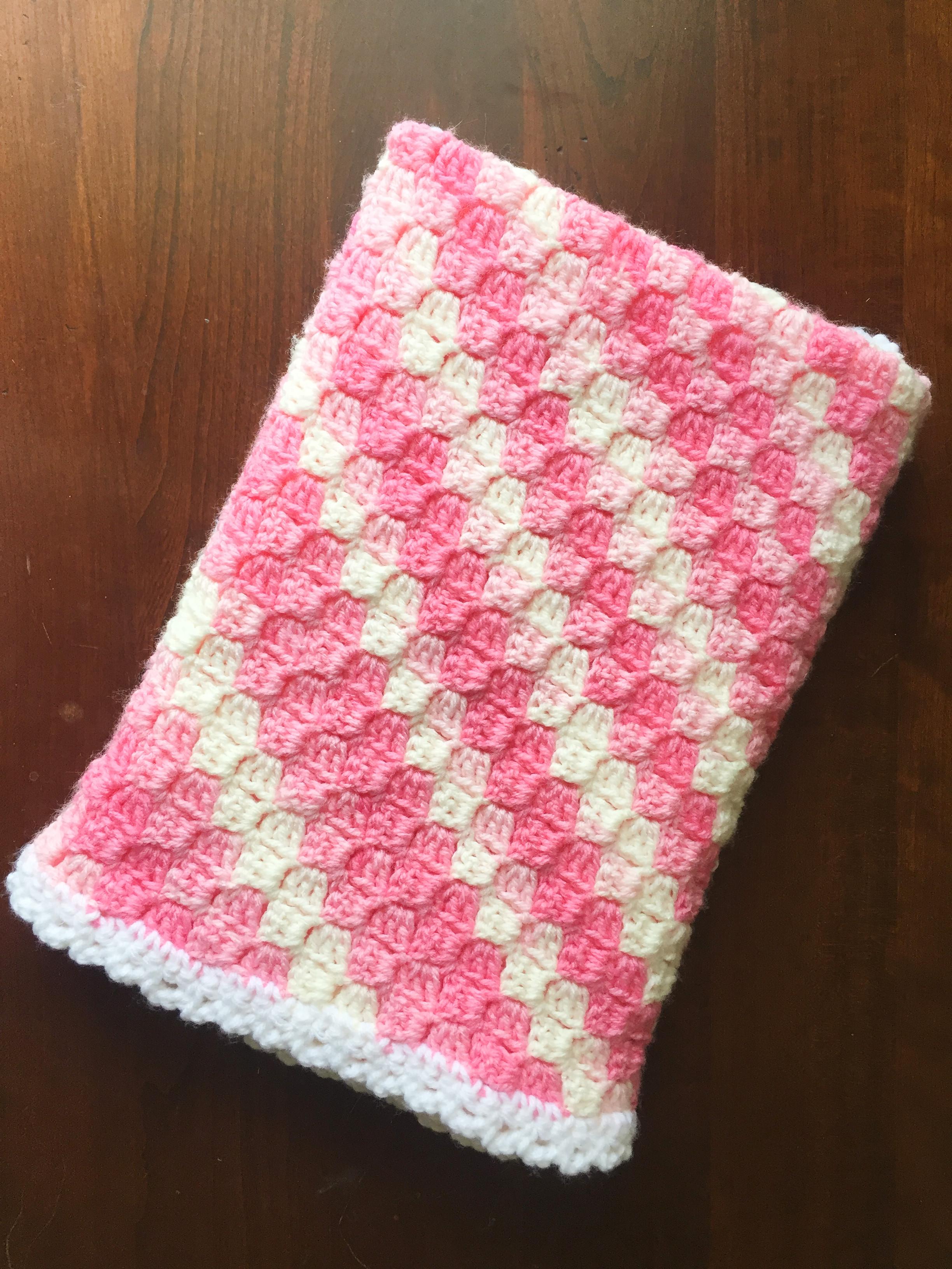 Easy Corner To Corner Crochet Baby Blanket Em S Fiber Arts