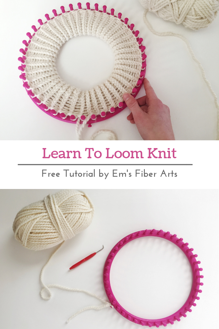 Learn To Loom Knit Double Brim Beanie Tutorial Em S Fiber Arts